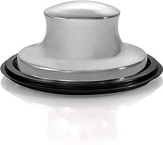 Universal Kitchen Sink Stopper -Garbage Disposal Plug - Kitchen Sink Plug for Insinkerator, Kitchenaid, Waste King, Kohler And More! … (Brushed Nickel)