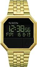 Nixon Re-Run Black Dial Stainless Steel Mens Watch A1581502