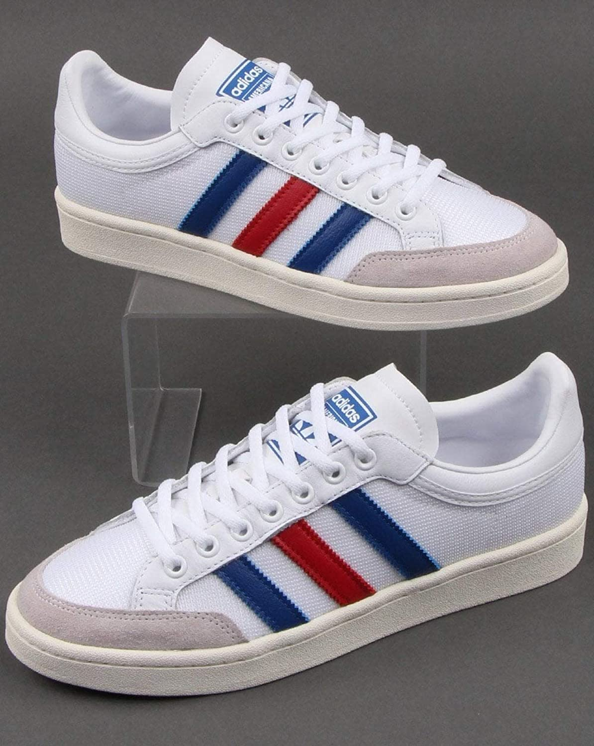 Adidas Trainers Adidas Americana Low Trainers White Royal Red 8