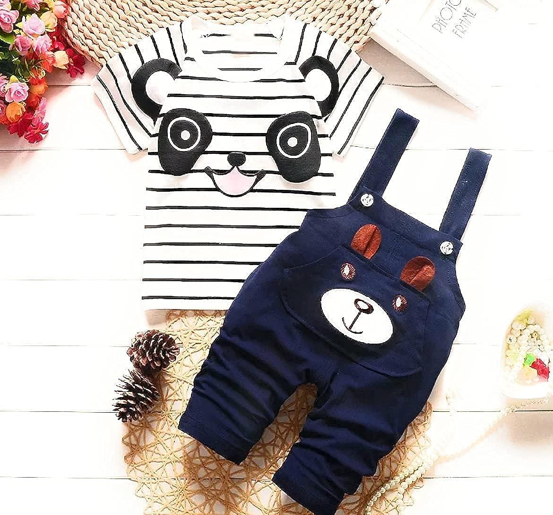 baby boys 2 pc boutique panda pants suit (6 Month)