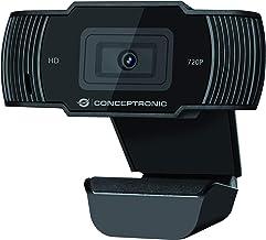 Conceptronic USB Webcam AMDIS03B 720p HD with Microphone 30fps Plug & Play