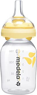Medela Calma Breast Milk Bottle Nipple for Breastmilk Feeding, Mimics Natural Feeding, All Stage, Includes 5 Ounce Bottle, Made Without BPA