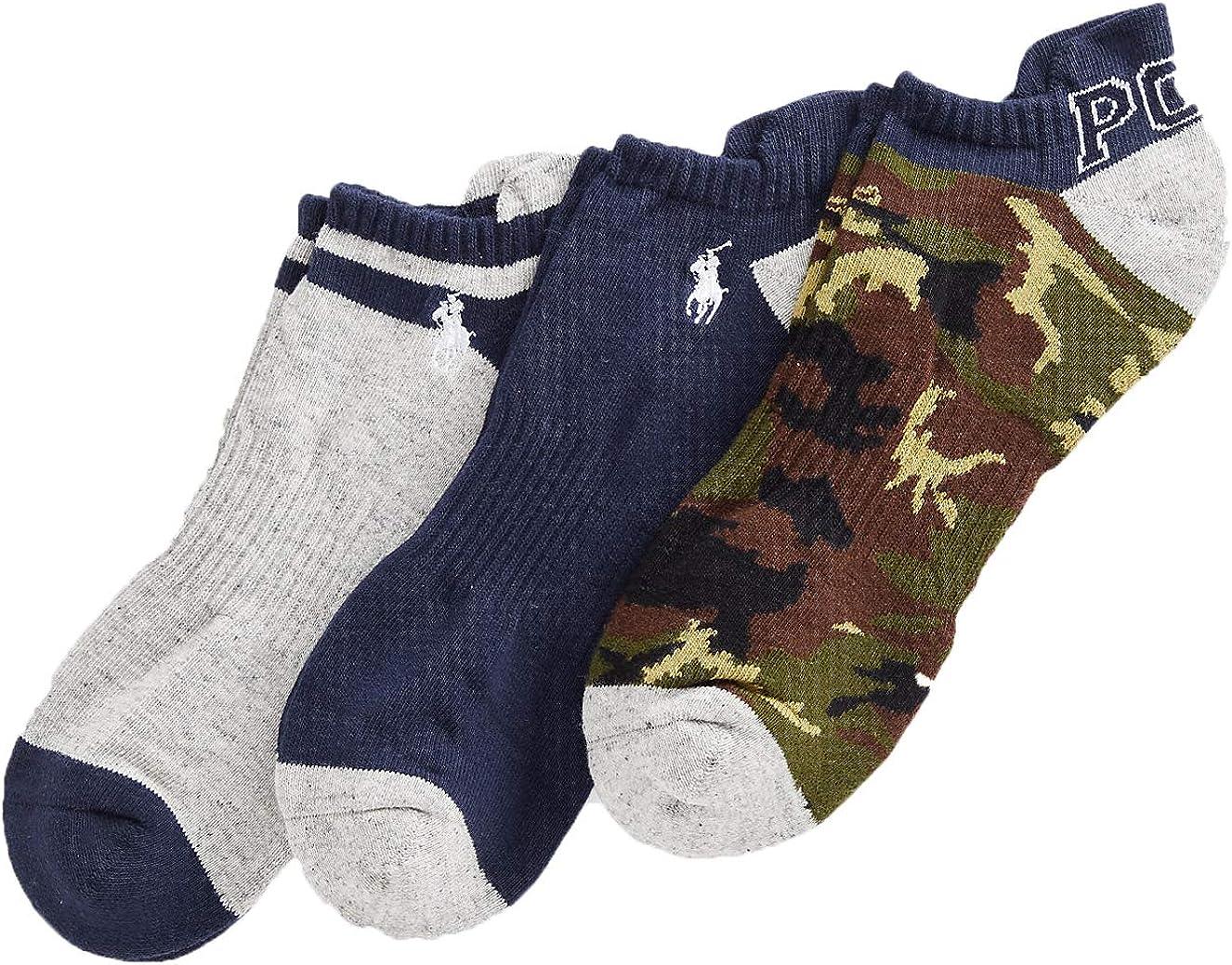 Polo Ralph Lauren Men's Camo Low-Cut Sock 3-Pack Size 10-13