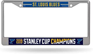 Rico Industries NHL St. Louis Blues Standard Chrome License Plate FrameStandard Chrome License Plate Frame, Blue, 12