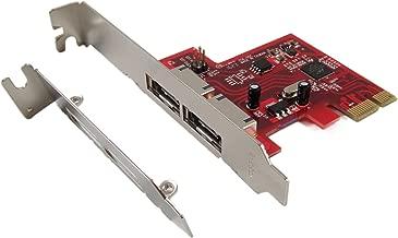 Ableconn PEX-SA114 2-Port eSATA 6G PCI Express Host Adapter Card - AHCI 6Gbps SATA III PCIe 2.0 Controller Card - Marvell 88SE9128 Chipset