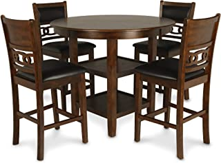 New Classic Furniture D1701-52S-BRN Gia Counter Dining Set, Brown