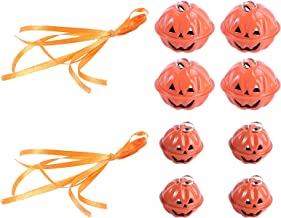 8PCS Halloween Pumpkin Bell Metal Pumpkin Small Bell Spoof Pumpkin Bell Decor Decorative
