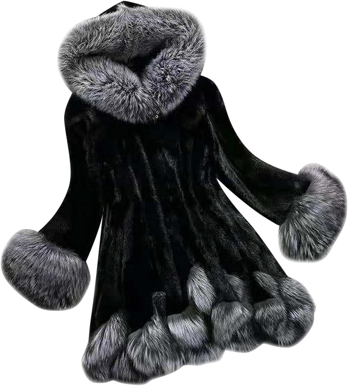 Women Faux Coat trust Ranking TOP8 Elegant Thick Warm Fashion Fake Long Outerwear J