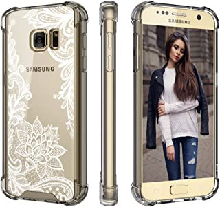 Cutebe Case for Galaxy S7, Shockproof Hard PC+ TPU Bumper Case Scratch-Resistant Cover for Samsung Galaxy S7 2016 Release Lace