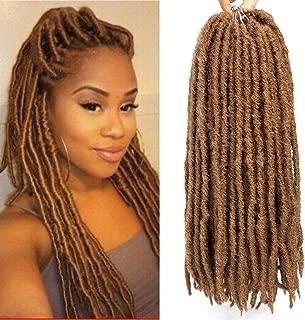 14'' Goddess Locs Crochet Hair Braids Pre Looped Straight Faux locs Ombre Synthetic Hair Extensions Dreadlocks Kanekalon Braiding Hair (14