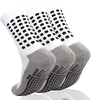 AOIREMON 3 Pairs Non Slip Hospital Socks, Anti Slip Non Skid Slipper Hospital Socks with grips for Adults Men Women Elderly