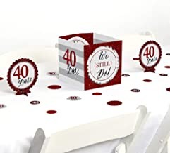 Big Dot of Happiness We Still Do - 40th Wedding Anniversary - Party Centerpiece & Table Decoration Kit
