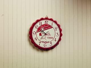 Market Street Red Mom's Kitchen Bottle Cap Wall Clock