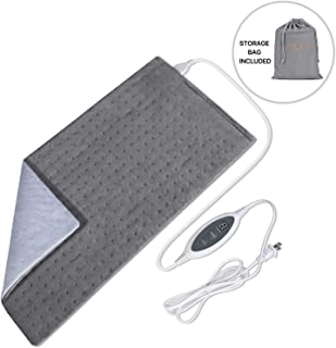 Joofo Heating Pad for Back Pain and Cramps Relief with Fast-Heating & 4 Temperature Settings, Moist Heat Therapy Option, Auto-Off and Machine Washable, 12