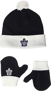 OTS NHL Toddler Pow Pow Knit Cap & Mittens Set
