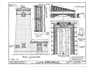 Historic Pictoric Structural Drawing HABS PA,25-ERI,5- (Sheet 2 of 2) - Land Lighthouse, Front Street, Land Lighthouse Park, Erie, Erie County, PA 55in x 44in