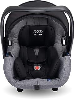 AXKID MODUKID INFANT Silla de Coche Grupo 0 y 1, Asiento de Automóvil para Niños de 0-13 Kg, Sillita para Coche, Silla de Coche de Bebé de 0 Meses hasta 1 Año (Gris)