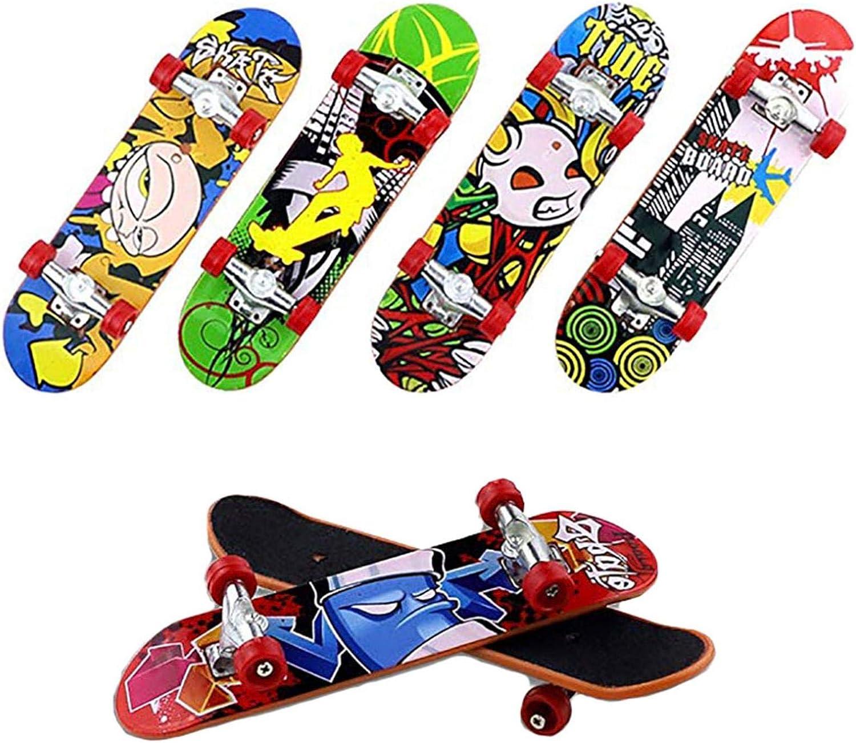 courti Finger Skateboard 1pcs Professionelle Mini Fingerboards Skatepark Spielzeug f/ür Kinder Spielen Oder Legierung Finger Skateboard Dekoration(Zuf/älliges Muster)