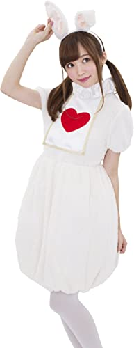 Fluffy Bunny Girl Kostuem Damen 155cm  165cm [Clear Stein Genuine]