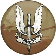 "AVI Pin Badges with Green Color "" Balidaan "" Badge Design (Pack of 1/ 6 cm)"