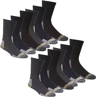 Calcetines de trabajo para hombre trabajo 12 pares calcetines para botas Talla 12 – 14 talón reforzado Toe Apoyo