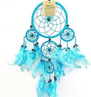 Rose Xiangmall Attrapeur de R/êves LED Fait Main Capteur de R/êves en Plumes Vintage Lumineux Dreamcatcher pour Chambre Murale Maison D/écoration Cadeau