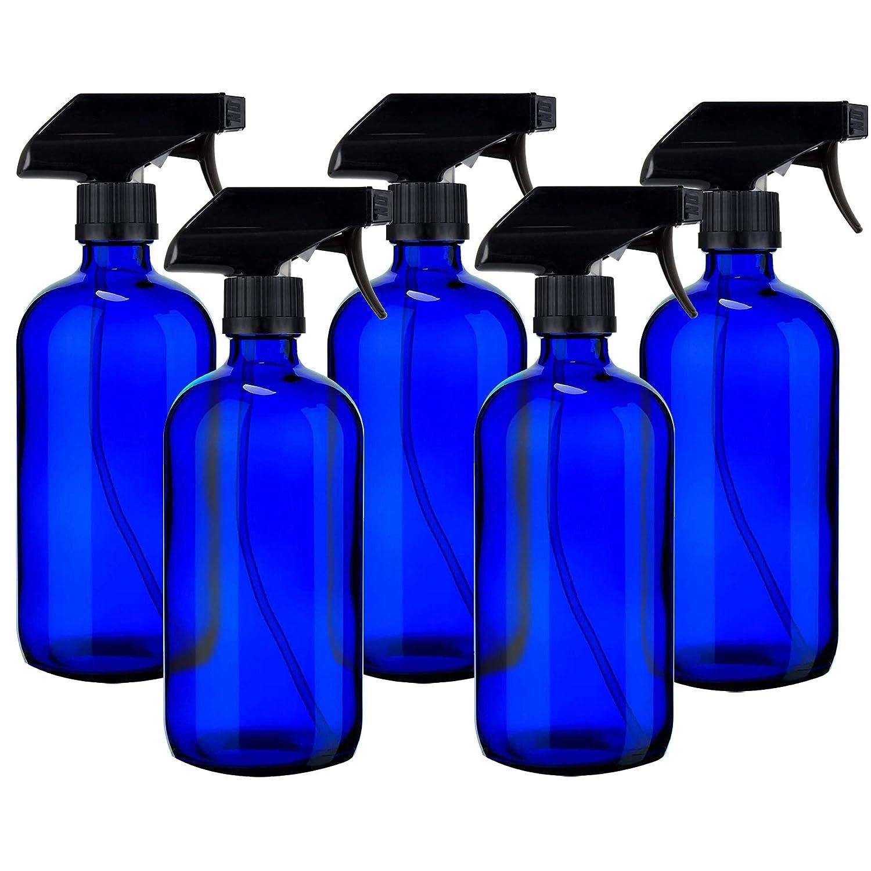 Cobalt Bottle with Sprayer 16 oz Plastic Boston 5-Pack PET Dealing full price reduction Max 76% OFF Rou