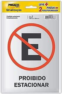 Placa Para Sinaliz. 14X19 Proibido Estacionar 891736 Pimaco, BIC, 891736, Multicor, pacote de 2
