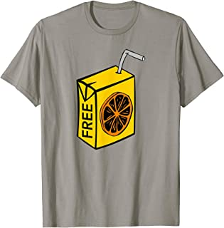 Free OJ Orange Juice T-Shirt Shirt Tee - Humor Funny Current