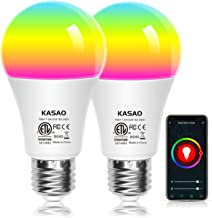 WiFi Smart LED Light Bulbs, A19 E26 RGB+W Color Changing Light Bulb Compatible with..