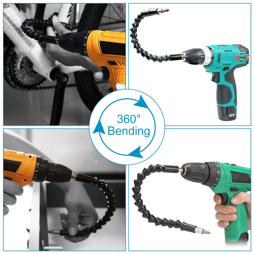 295mm Blue Screw Shaft Flexible Drill Shaft Electric Drill Extension for Drill