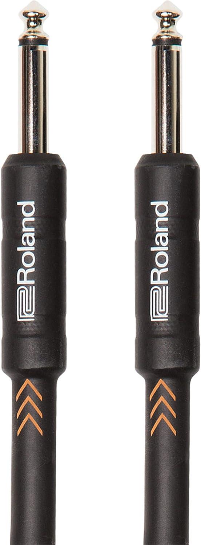 Cable de instrumento de la serie Black de Roland con jacks de 1/4 de pulgada recto/recto de 1,5m de longitud - RIC-B5