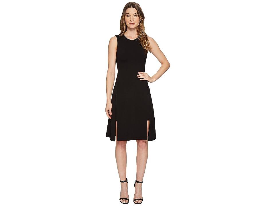Susana Monaco Alexa Double Layer Sleeveless Dress (Black) Women