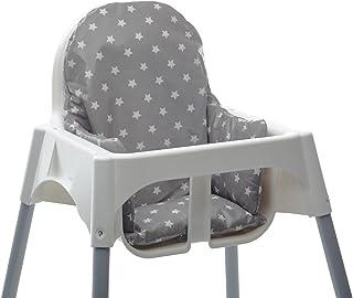 comprar comparacion Messy Me- Cojín de asiento. Silla alta IKEA Antilop- Limpieza fácil de hule- tela- Refuerzo de silla de bebé para comidas ...