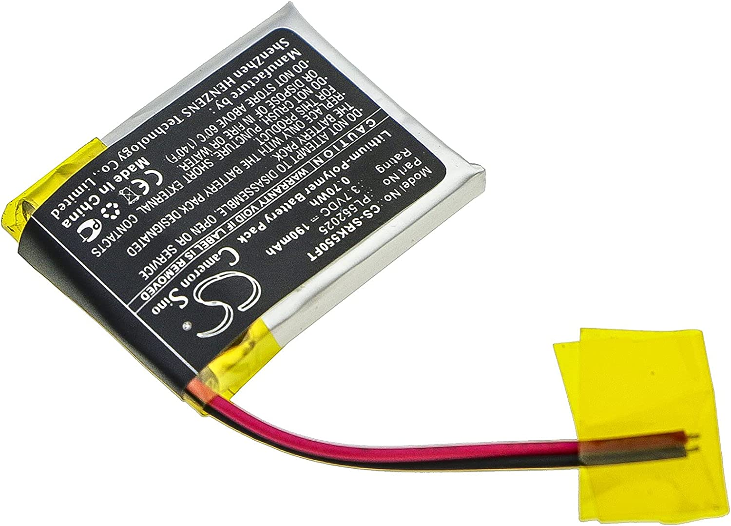 PL552025 Battery depot for Shark 550R Raleigh Mall - Sold by smavco 190mAh
