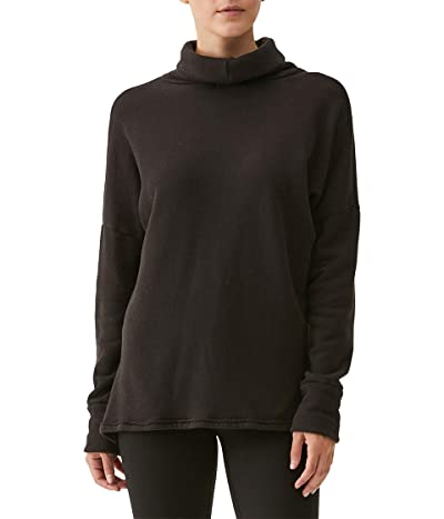 Michael Stars Meadow Reversible Turtleneck Cozy Terry Sweatshirt Women