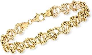 Ross-Simons 14kt Yellow Gold Oval-Link Bracelet
