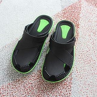 N / A comfortabele sandalen dames, zomer ademende slipvaste slippers herenmode casual hollow slipper-green_43