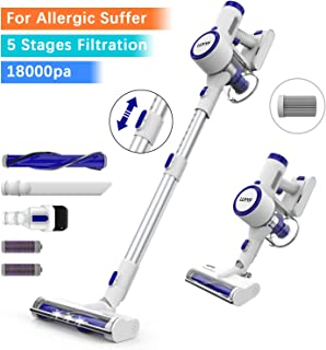 LUYYF Cordless Vacuum, 18000Pa Stick Vacuum Cleaner, 200W Digital Motor Stick Handheld Vacuum, Pro Max Filtration with Unique Air Outlet HEPA for Carpet, Hard Floor & Pet