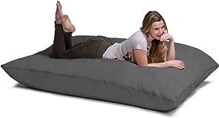 Jaxx Pillow Saxx 5.5-Foot - Huge Bean Bag Floor Pillow and Lounger, Charcoal