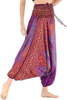 Mesdames Elephant Imprimer hippie harem pants festival femmes aladdin pantalon hippy