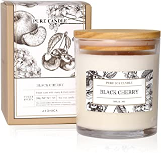 Aronica Pure Candle   Black Cherry  100% Soy Wax   Home Scented Candles   Slow Burn Candles
