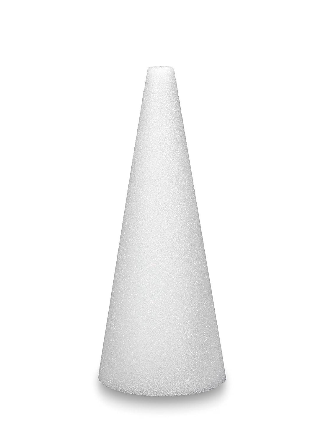 FloraCraft Styrofoam Cone 3.8 Inch x 11.8 Inch White