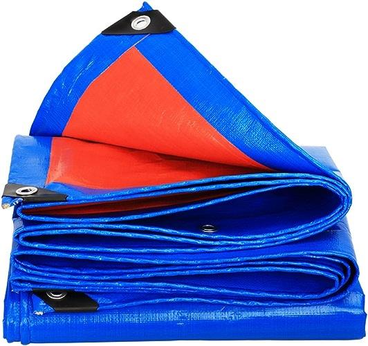 Tissu imperméable à l'eau imperméable Bache anti-pluie bache de prougeection solaire double face étanche camion hangar tissu extérieur ombre anti-poussière coupe-vent résistant à l'usure anti-corrosion, bleu