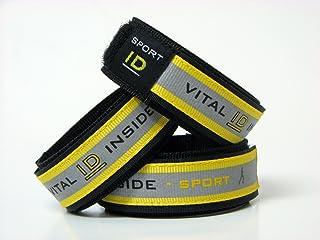 Sports Vital / Medical ID Adjustable Bracelet ~Personal ID ~ Yellow