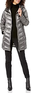 Calvin Klein Women's Hooded Chevron Quilted Packable Down Jacket (Regular and Plus)