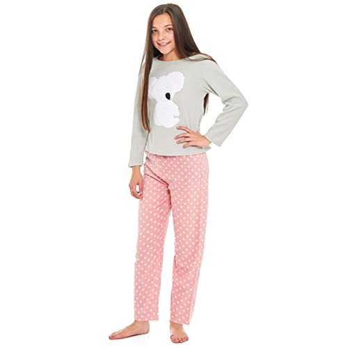 a1066f6dc372 Slumber Hut® Girls Polar Koala Bear Pyjamas Microfleece Grey Loungewear  Novelty Motif Children s PJ s -
