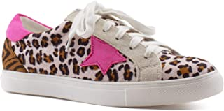 Women's Casual Low Top Trendy Cushioned Fashion Star Sneakers