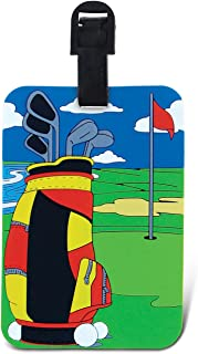 Golf Luggage Identification Tag Baggage Labels Bags Travel Accessory