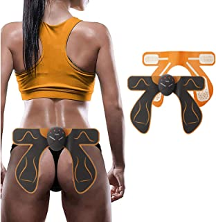 3 tipos EMS Hip Trainer Dispositivo de masaje de elevación de glúteos Estimulación muscular de la cadera Massager AB Trainer Workout Equipment Machine Fitness para mujeres Hombres(curva)